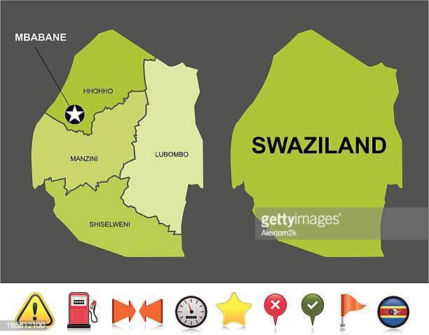swaziland navigation map - eswatini stock illustrations, clip art, cartoons, & icons