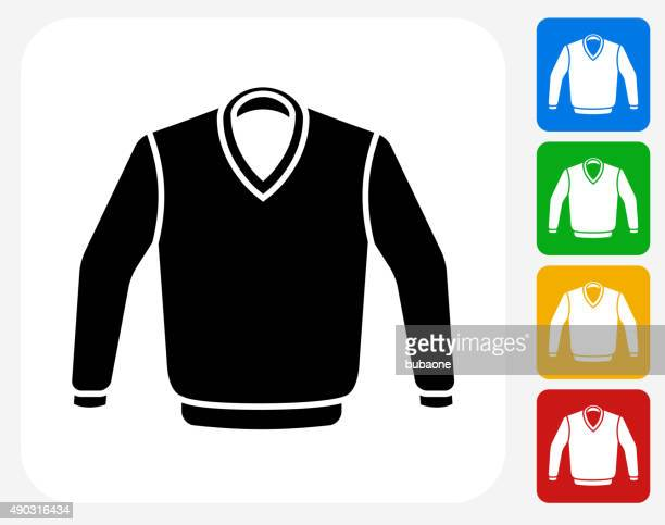 sweater icon flat graphic design - sweater stock illustrations, clip art, cartoons, & icons