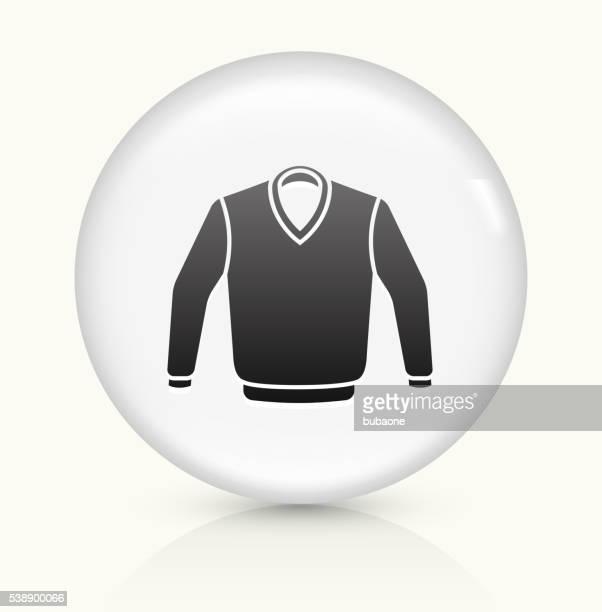セーター白くて丸いベクトルボタンのアイコン - vネック点のイラスト素材/クリップアート素材/マンガ素材/アイコン素材