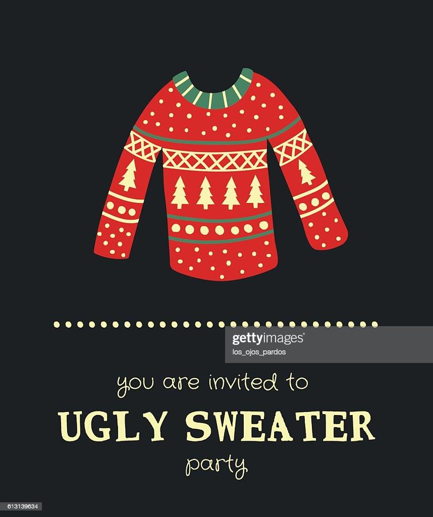 sweater invitation