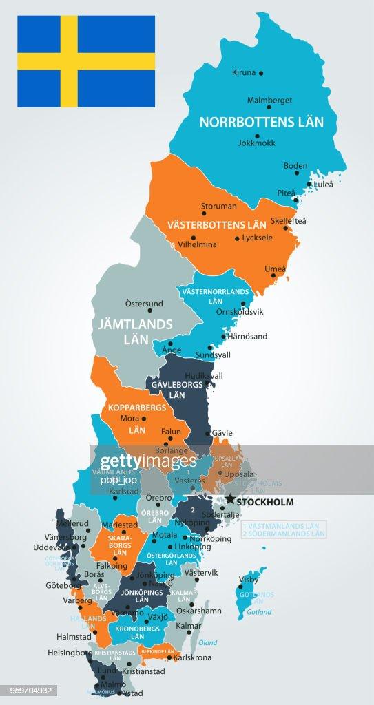 13 - Schweden - Blau-Orange 10 : Stock-Illustration