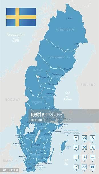 Sweden - highly detailed map