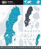 Redigerbar Karta Sverige.Gratis Vektorgrafik Och Clipart Med Sverige Karta Clipart Me