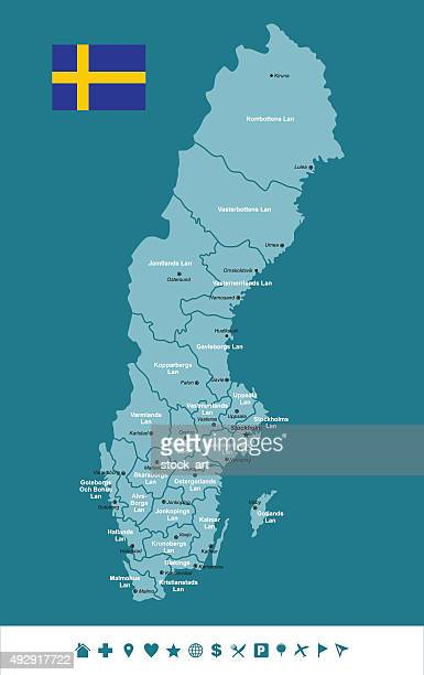 Sweden Infographic map