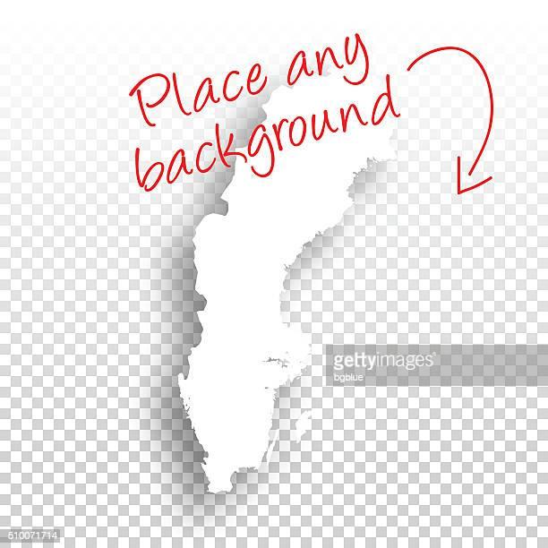 Sweden Map for design - Blank Background