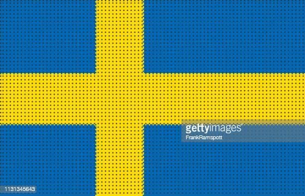 Schweden pixelte Vektorflagge