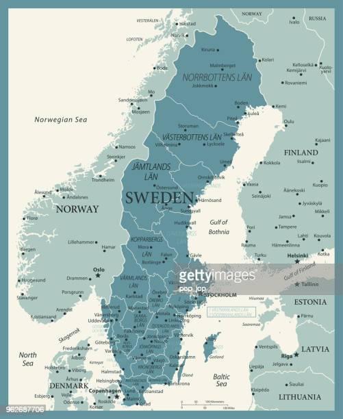 23 - schweden - vintage murena 10 - norwegen stock-grafiken, -clipart, -cartoons und -symbole