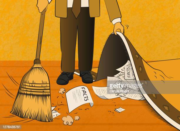 sweep under the carpet - sweeping stock illustrations