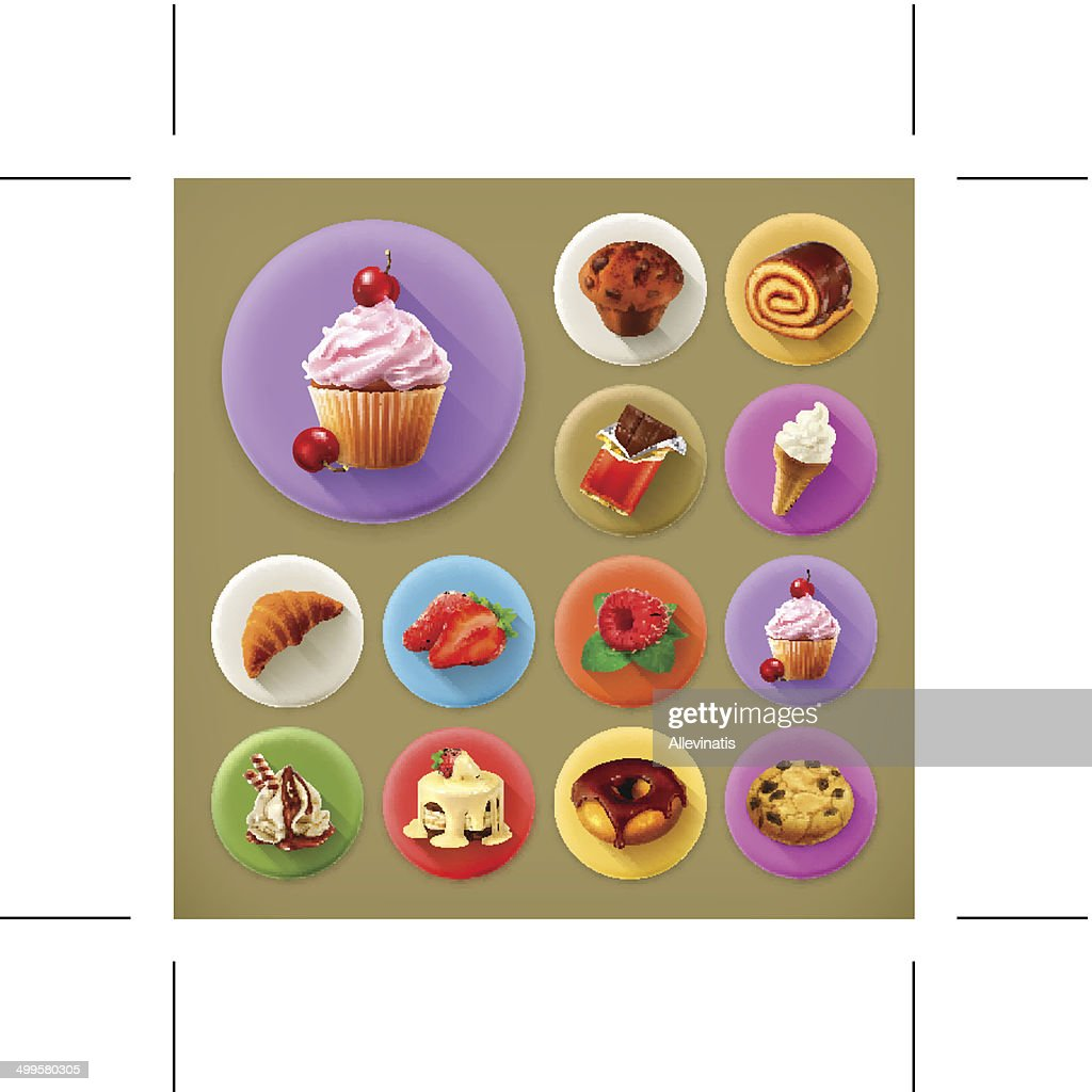 Sweet and tasty, icon set