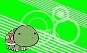 sweet baby turtle cartoon background