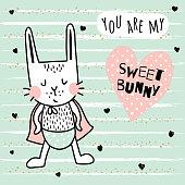 sweet bunny boy