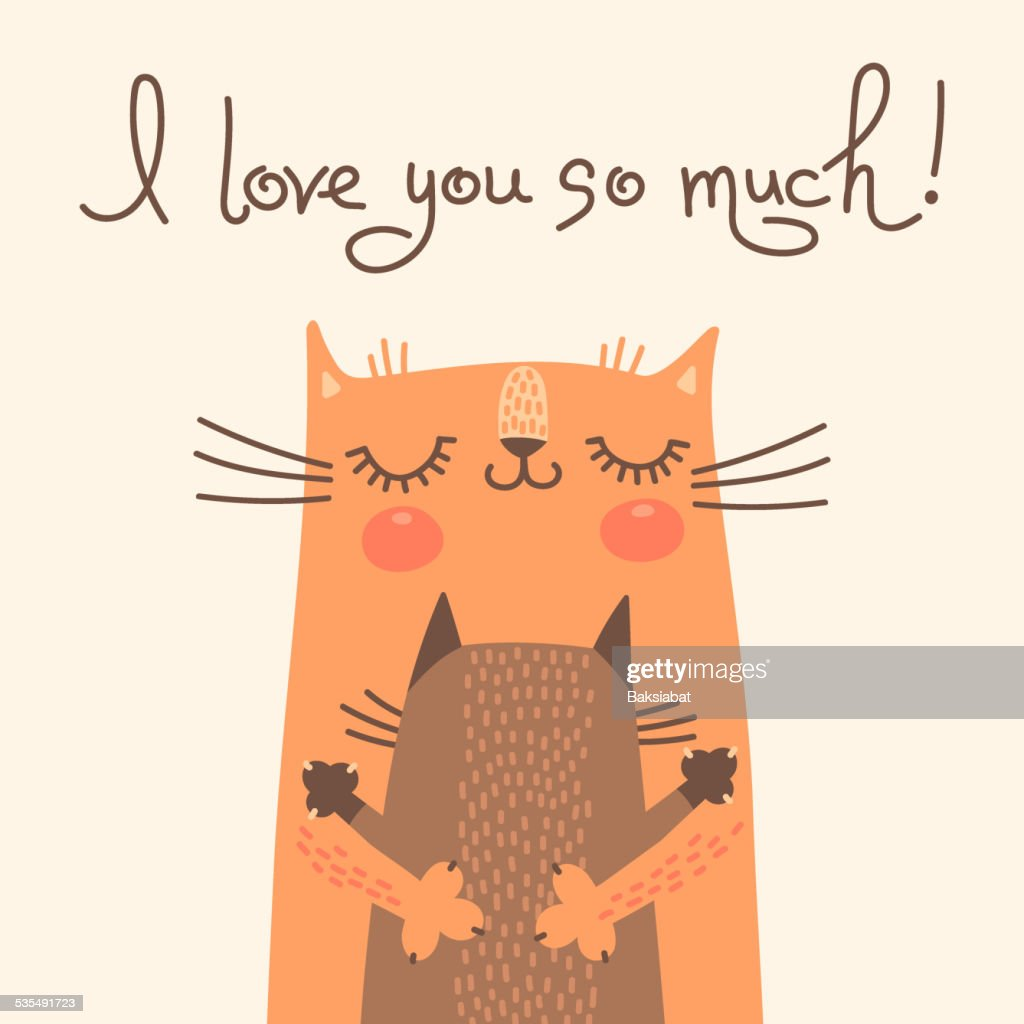 Sweet card for Mothers Day with cats