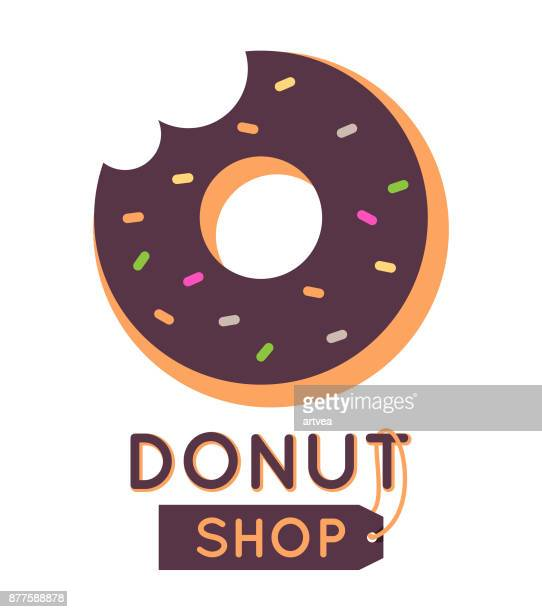 sweet donut - donut stock illustrations, clip art, cartoons, & icons