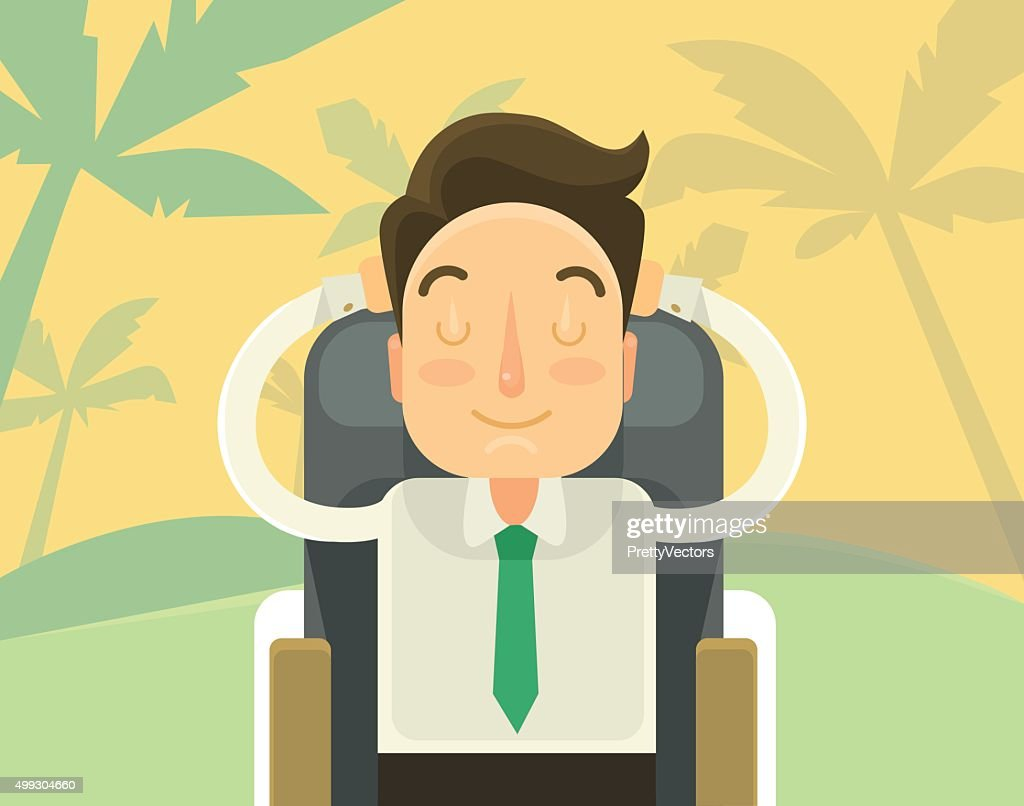 Sweet dream about holiday. Vector flat illustration