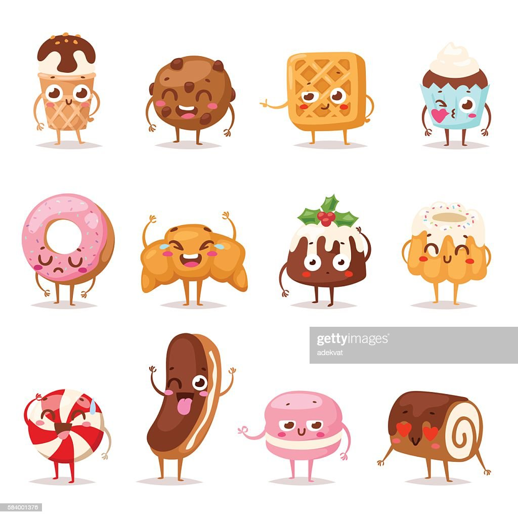 Sweet emotion vector set.