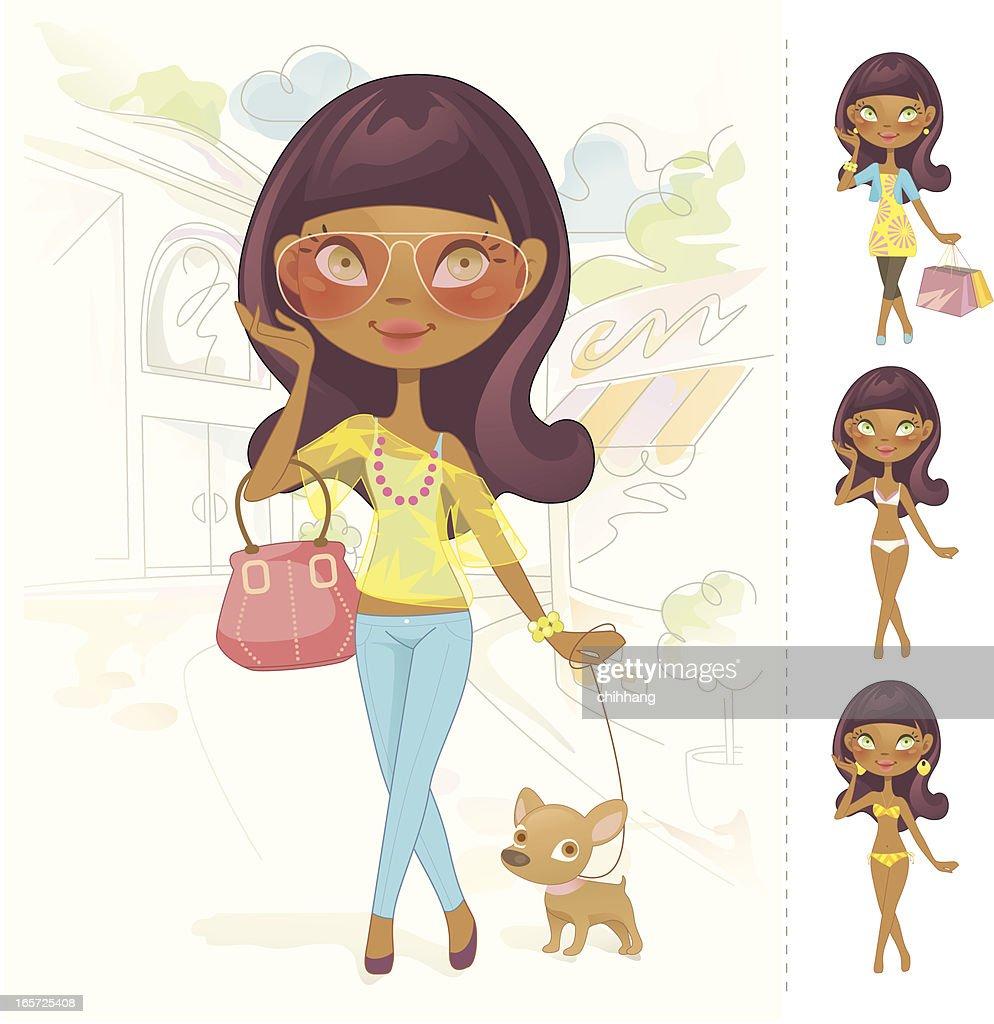 Sweet Fashion Doll (African)