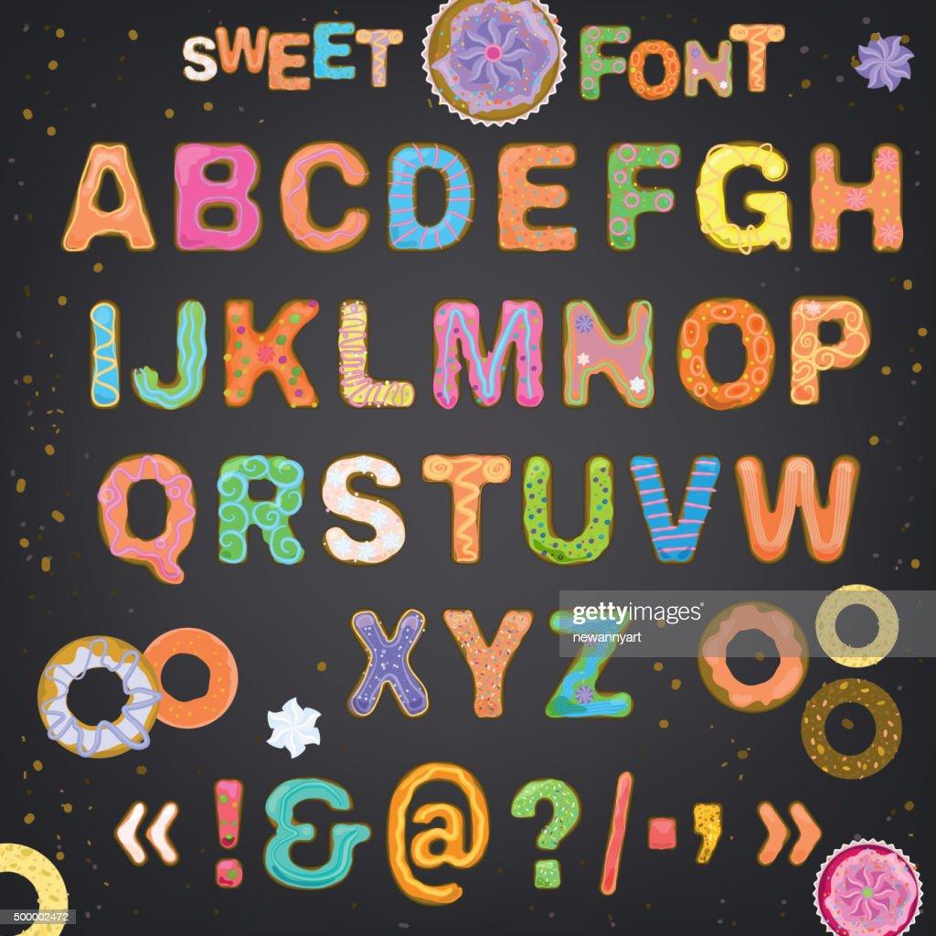 Sweet font vector