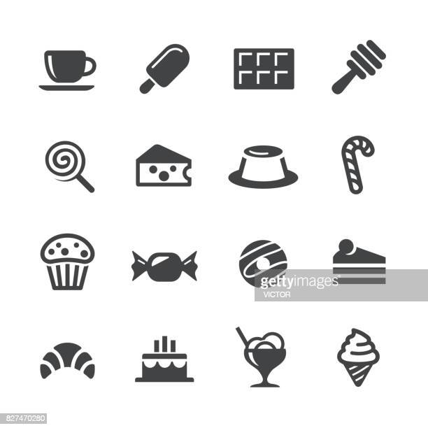 sweet food icons - acme series - donut stock illustrations, clip art, cartoons, & icons