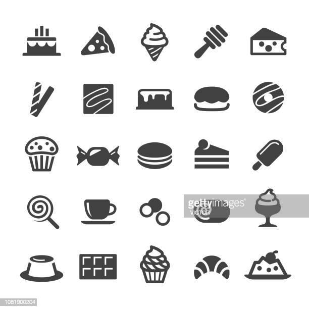 sweet food icons - smart series - panna cotta stock illustrations, clip art, cartoons, & icons
