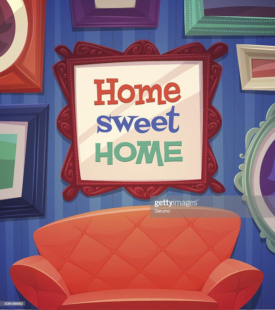 Sweet home card \\ poster design. Vector illustration
