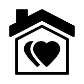sweet home Glyphs Vector Icon