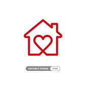 Sweet home symbol stock illustration