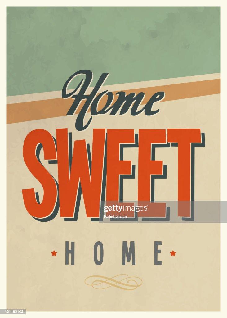 'Sweet home' vintage poster