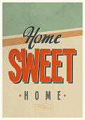 'Sweet home' vintage poster