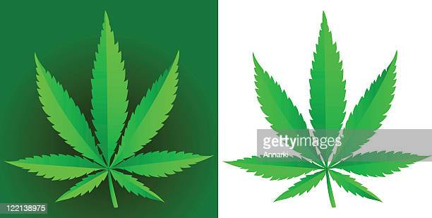 sweet leaf - cannabis plant stock illustrations, clip art, cartoons, & icons