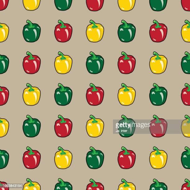 Sweet pepper pattern background