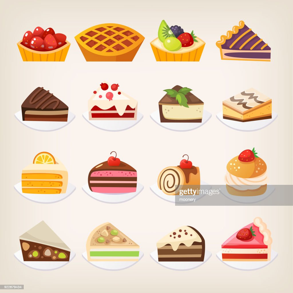 Sweet pies and cakes.