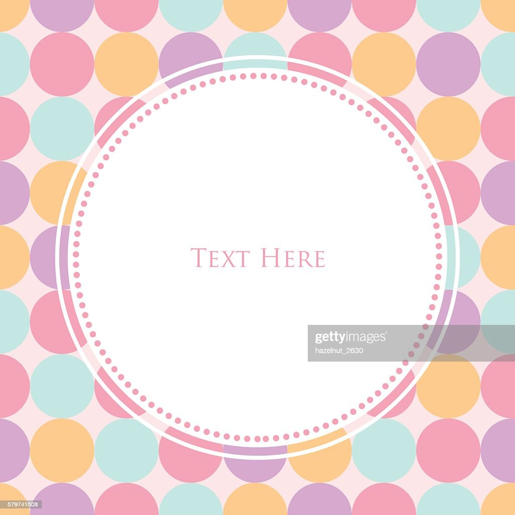 sweet polka dot template vector art getty images