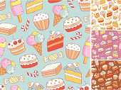 Sweet seamless pattern
