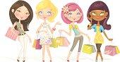 Sweet Shopping Dolls