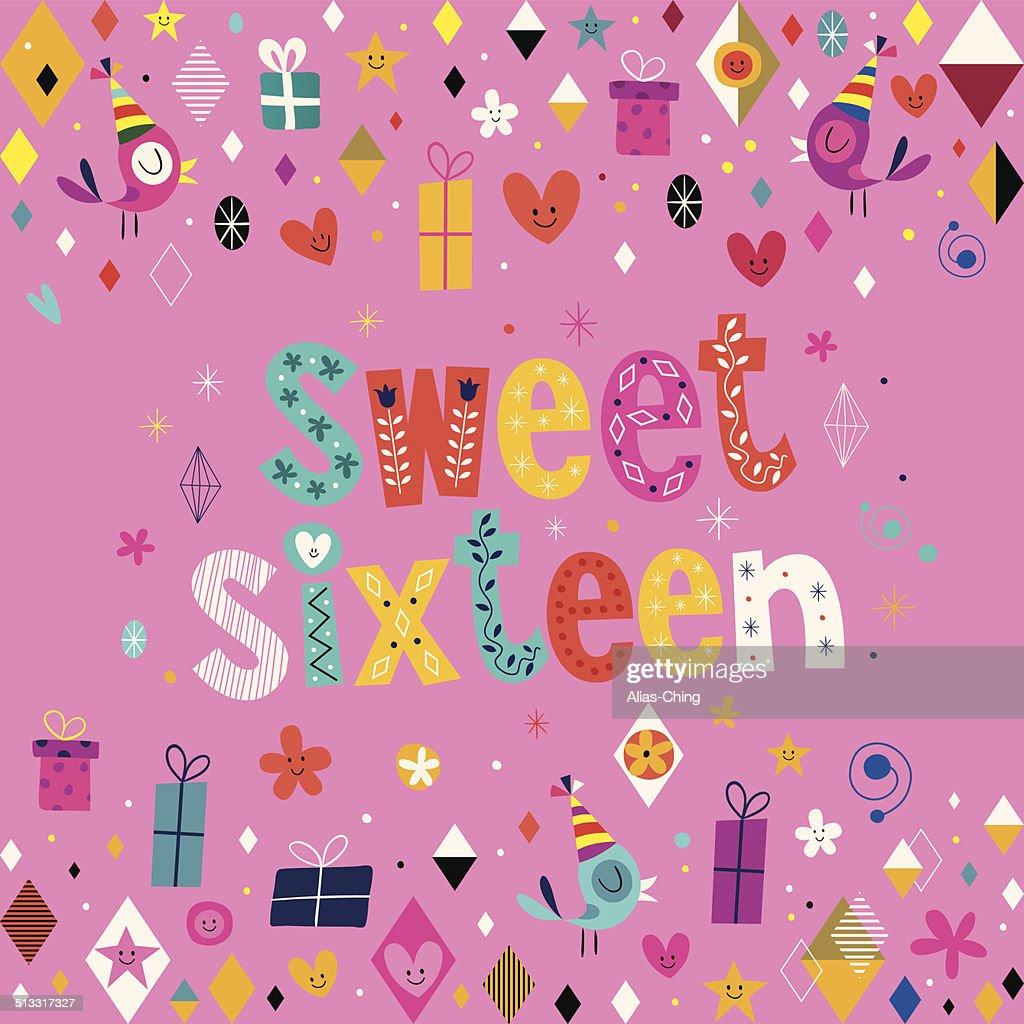 Sweet Sixteen card