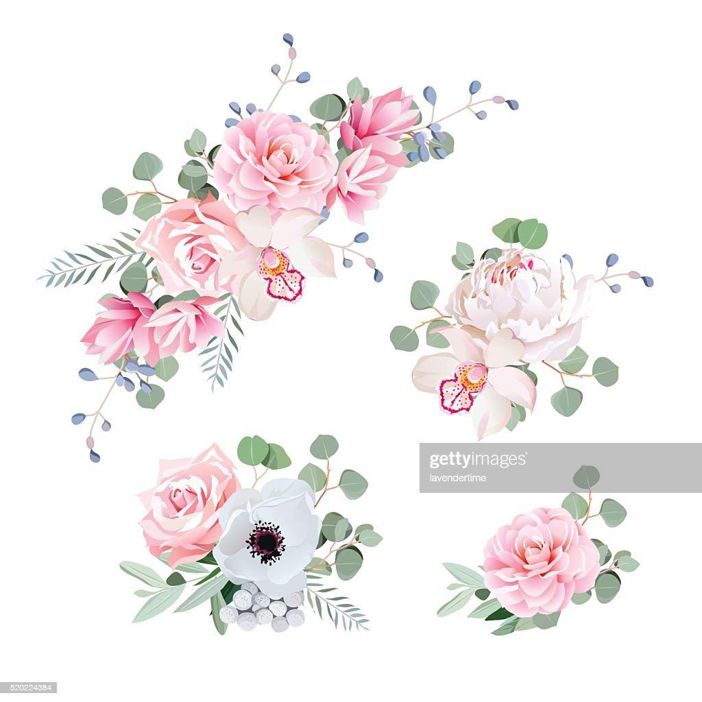Schone Hochzeit Blumen Austeilen Von Rose Pfingstrose Orchidee