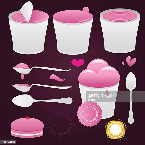Sweet yogurt and ice cream