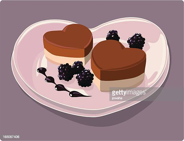 ilustrações, clipart, desenhos animados e ícones de sweetheart em um prato - molho de chocolate