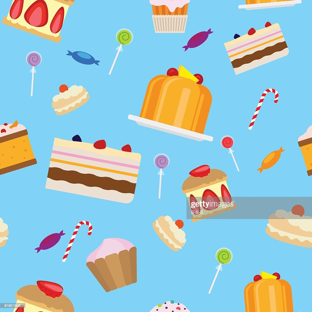 Sweets and candies seamless pattern : Vektorgrafik