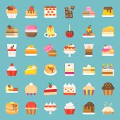 Sweets and dessert, flat icon