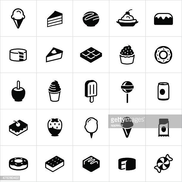 sweets, candy and desserts icons - flavored ice stock illustrations, clip art, cartoons, & icons