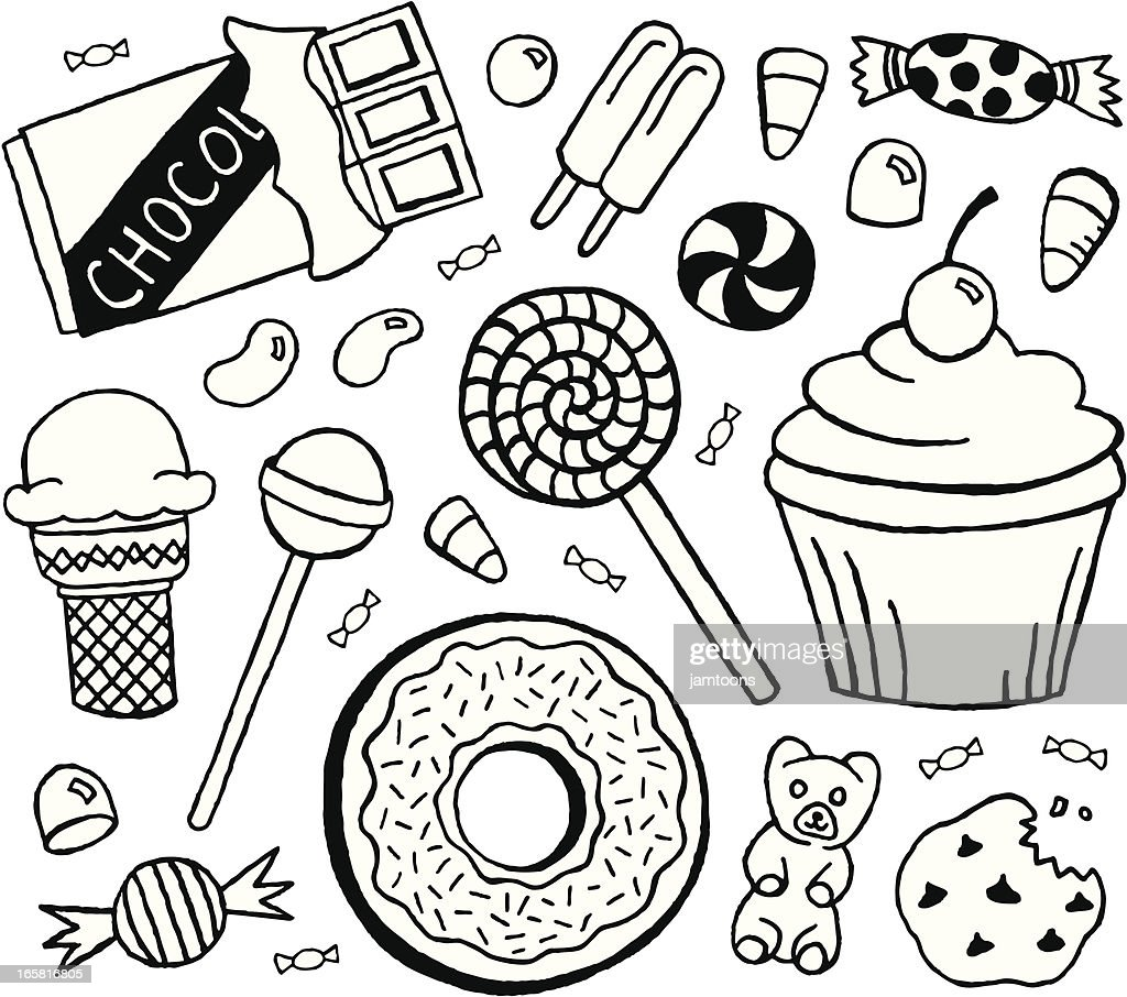 Sweets Doodles : stock illustration