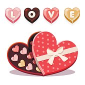 sweets for Valentine s Day in heart shaped