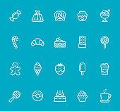 Sweets - line icon set