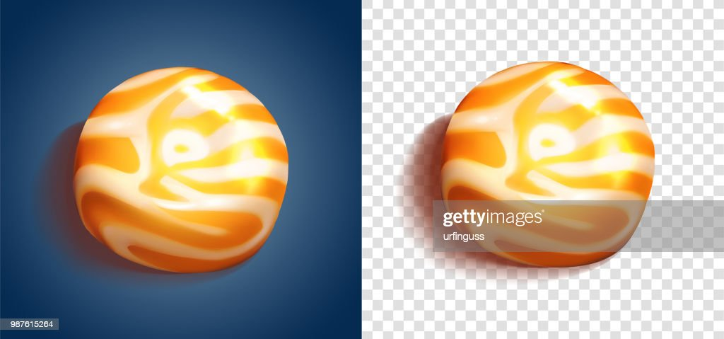 sweets on blue background. hard candy, lollipop. vector illustration
