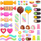 Sweets set. Assorted candies