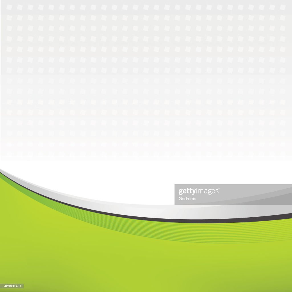 A swept abstract image leaflet of green and white