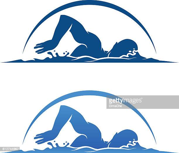 swimmer - swimming stock illustrations, clip art, cartoons, & icons