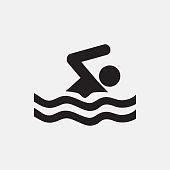 Swimming icon illustration