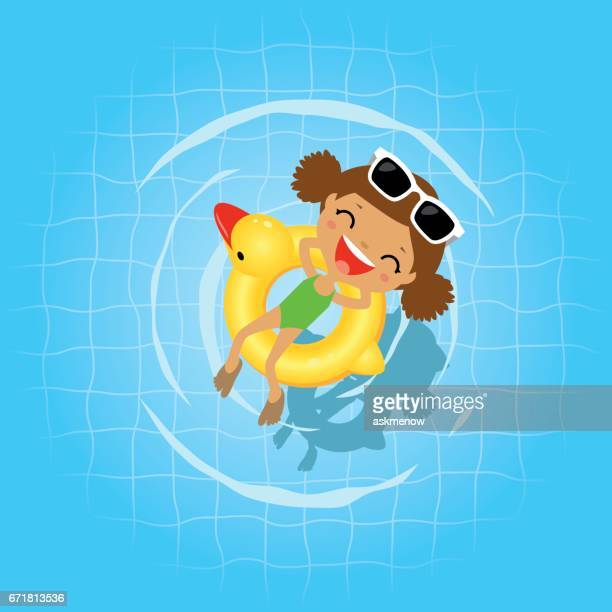 swimming in the swimming pool - sunglasses stock illustrations, clip art, cartoons, & icons